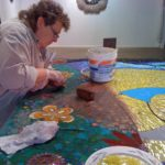 Sharra Frank - Assist with grouting.