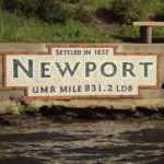 Newport Mural on the banks of the Mississippi
